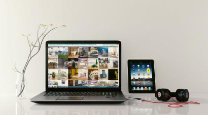 Laptop und Tablet